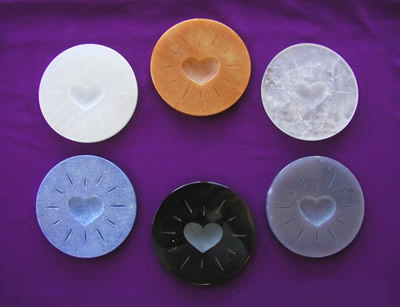 Enerdiscs energentic gem coasters alter water to create powerful cleansing and energizing essences